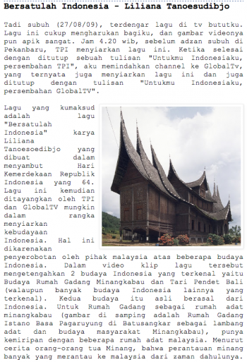 Kekuatan Indonesia Dalam Lirik Liliana Tanoesoedibdjo oleh