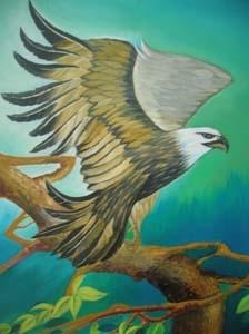Lukisan Burung Elang Hitam Putih Cikimm Com