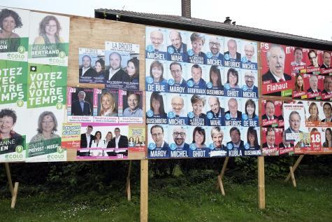 Kampanye Pemilu Legislatif di Belgia (sumber: Le Soir)