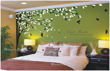 Wall Sticker Untuk Dinding Warna Hijau