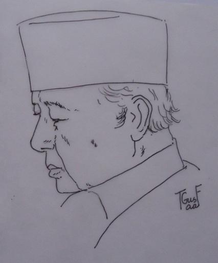 Saya Menggambar Wajah Profil Sby Dan Jokowi Oleh Gustaaf Kusno